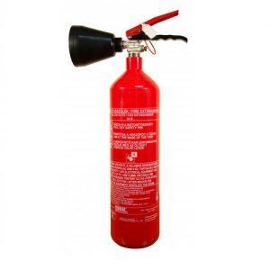 2 kg-os CO2 -vel oltó tűzoltó készülék