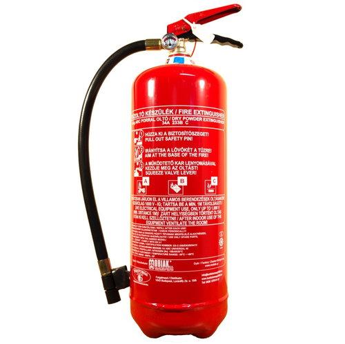 Tűzoltókészülék 6 kg-os ABC porral oltó